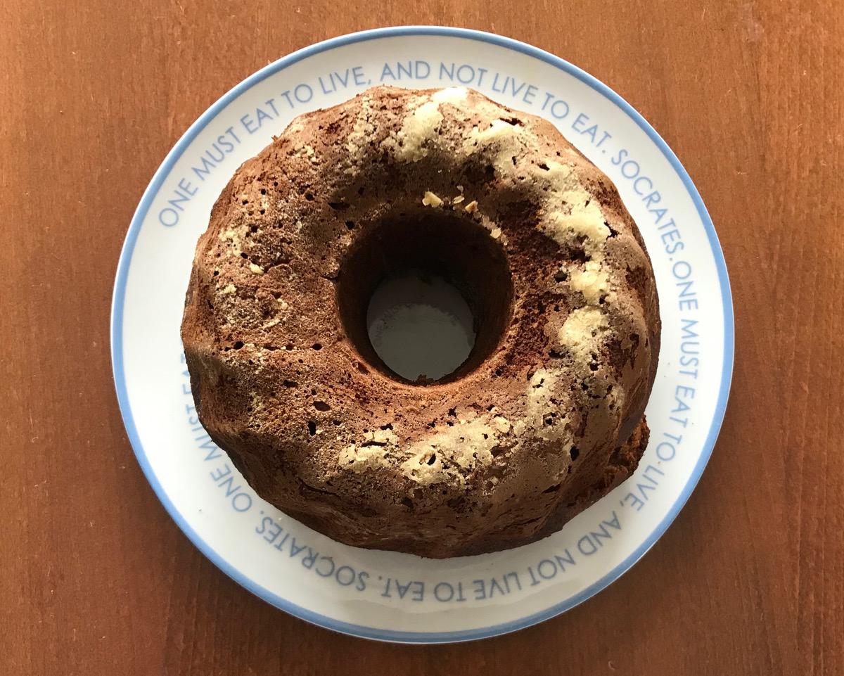 θρεπτικό κέικ φρούτα