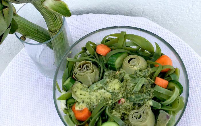σαλάτα φασολάκια