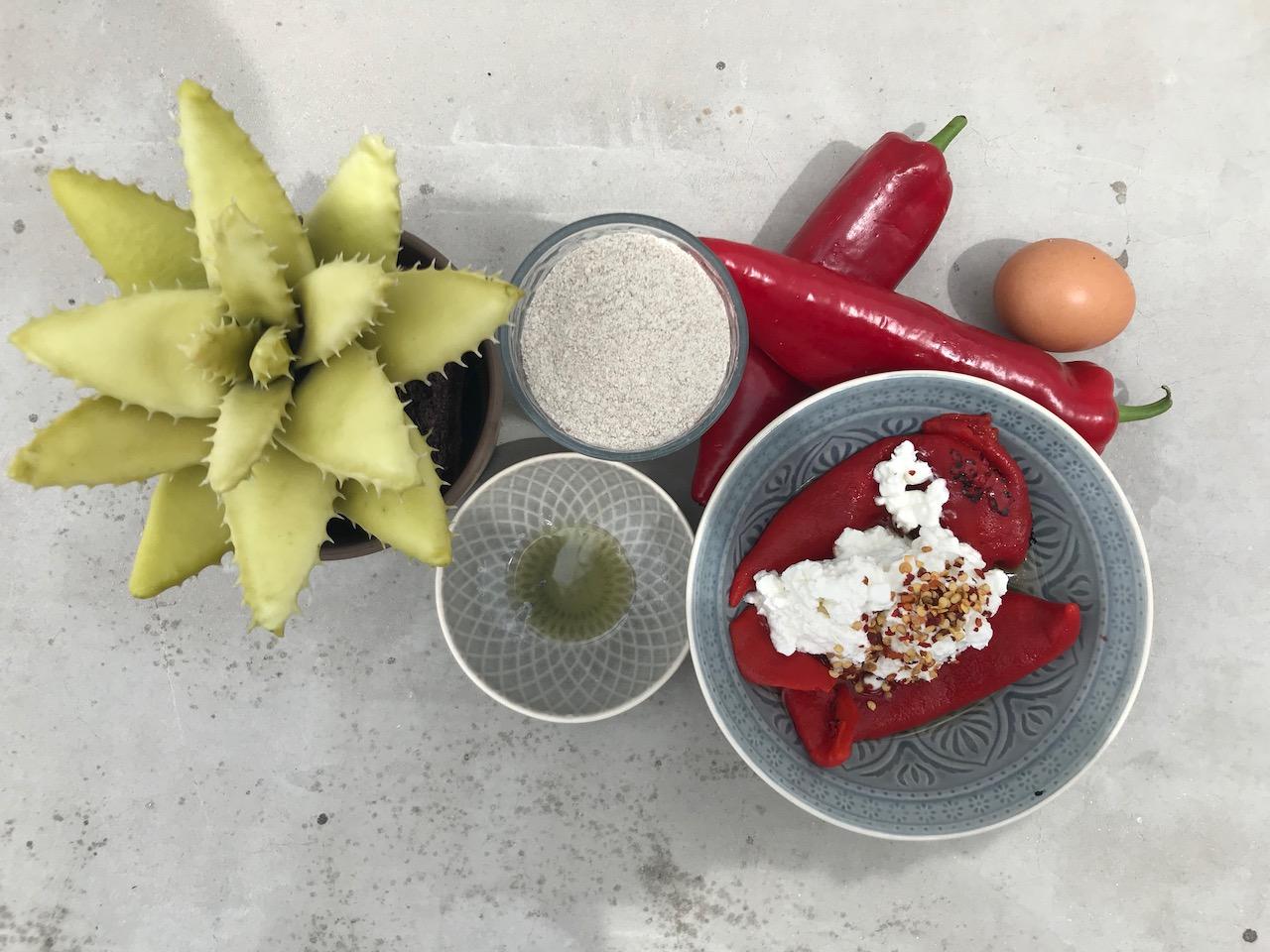 υλικά για πιτάκια πιπεριας
