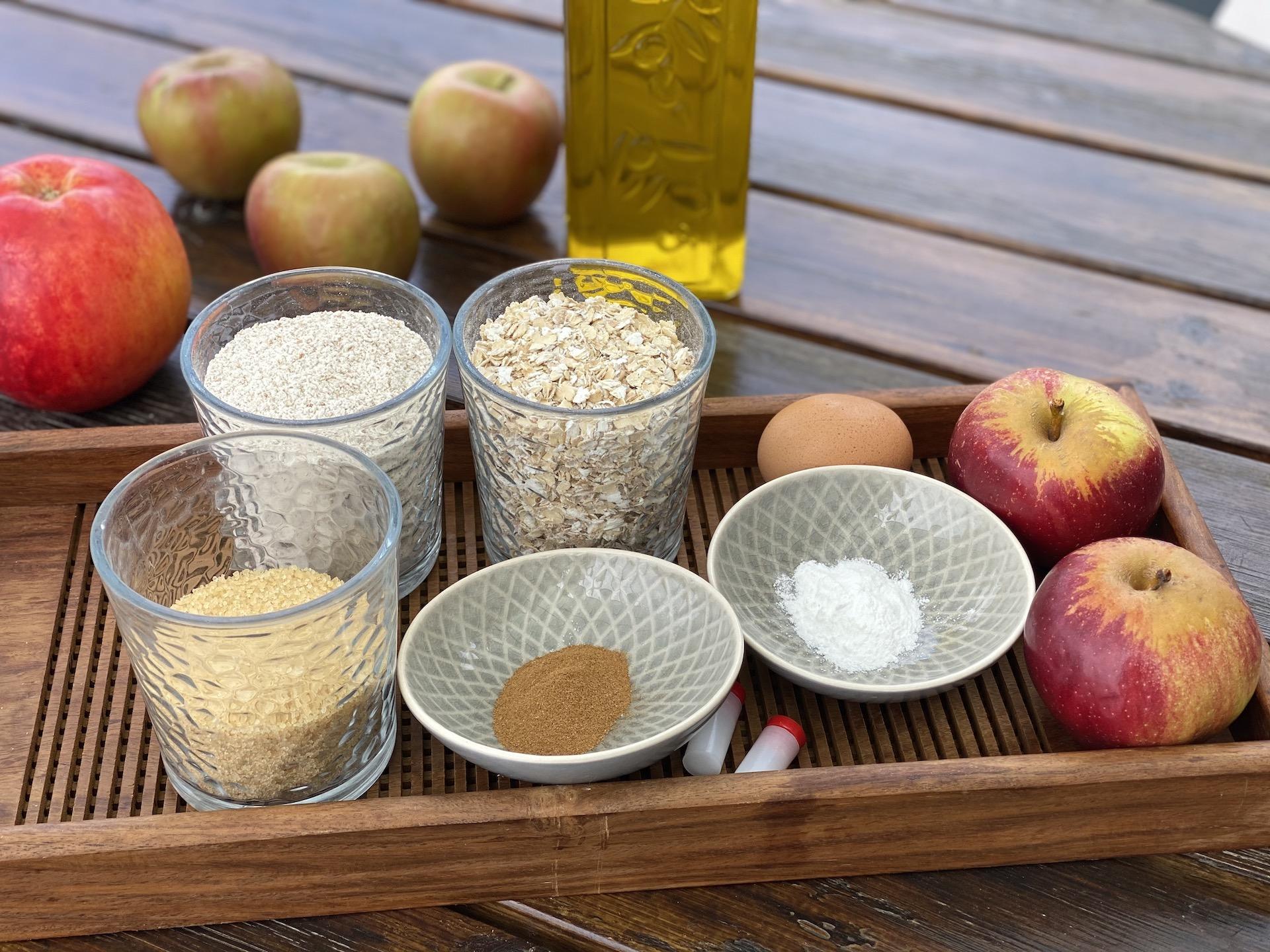 υλικά για μπισκότα μήλου κανέλας