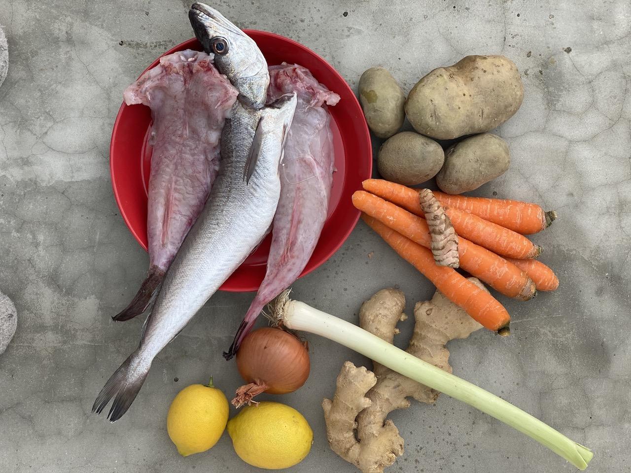 υλικό για ψαρόσουπα