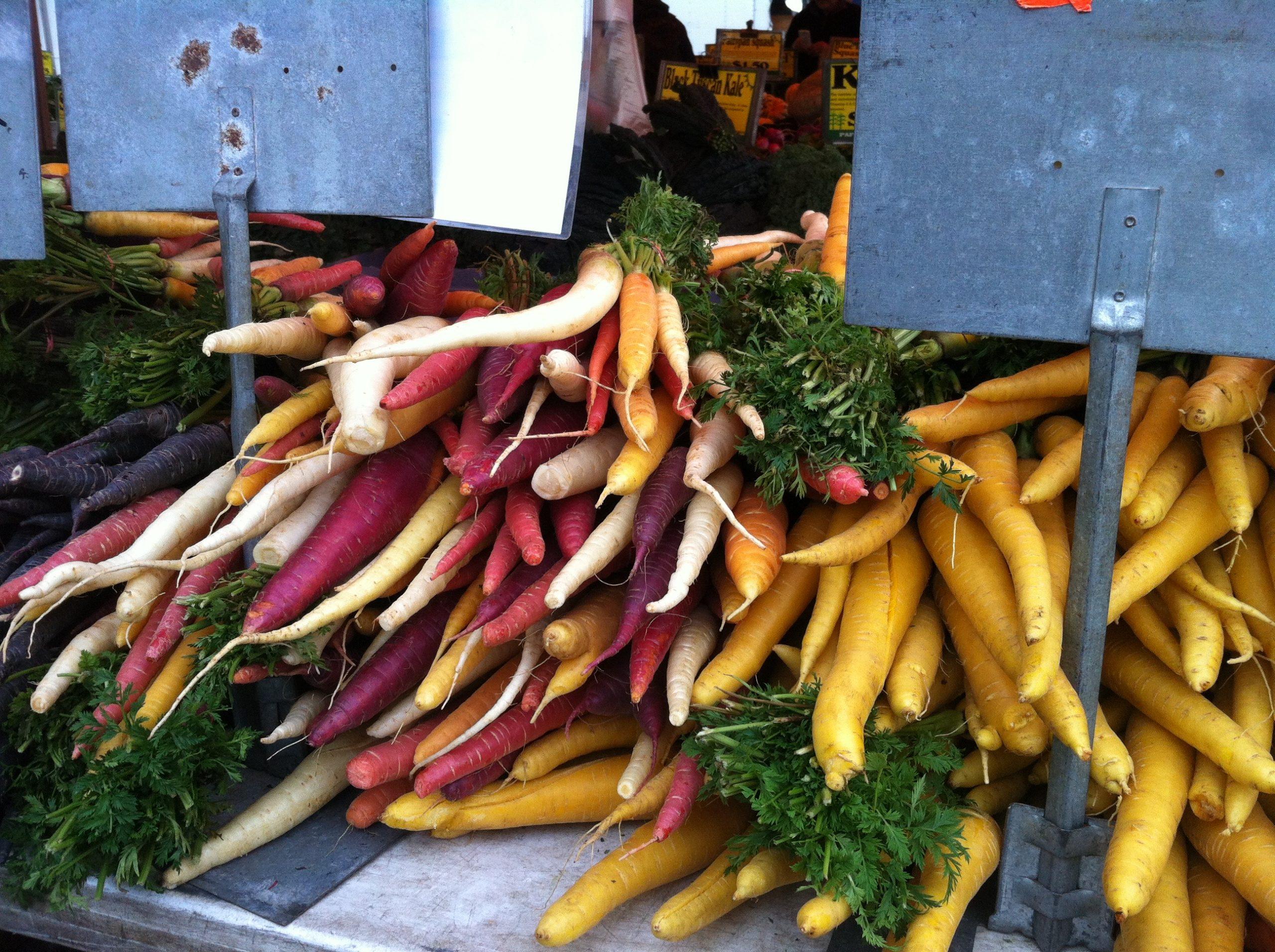 Καρότα στο Farmer's Market της Νέας Υόρκης