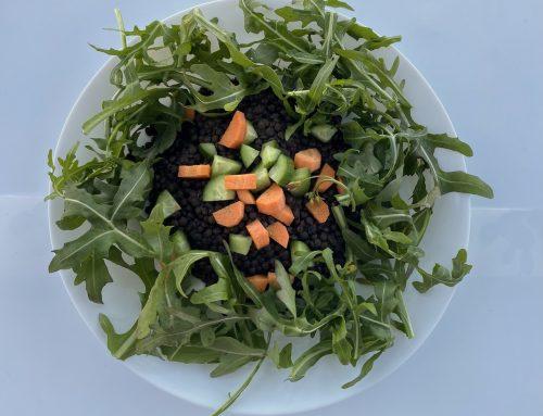 Φακές μαύρες beluga σαλάτα