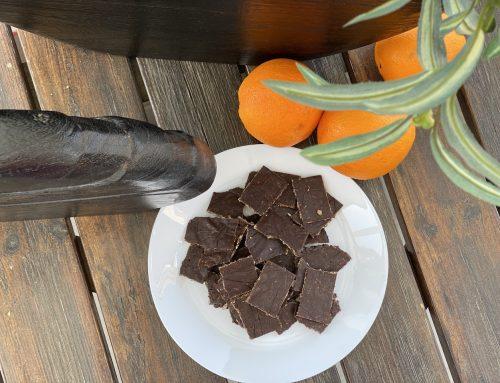Σοκολατάκια με βρώμη, μέλι και ξύσμα πορτοκαλιού