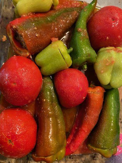 ωμα λαχανικά σε ταψί